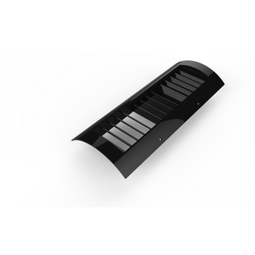 """Black Plastic 4""""x12"""" Spiral Duct Grille"""