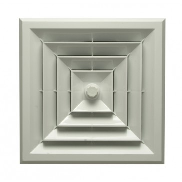 Square Ceiling Vent with Butterfly Damper