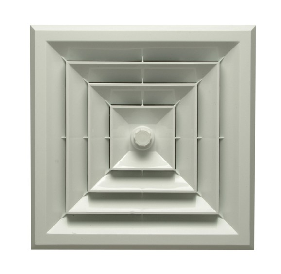 Intalled White Square Ceiling Diffuser 12 Vent