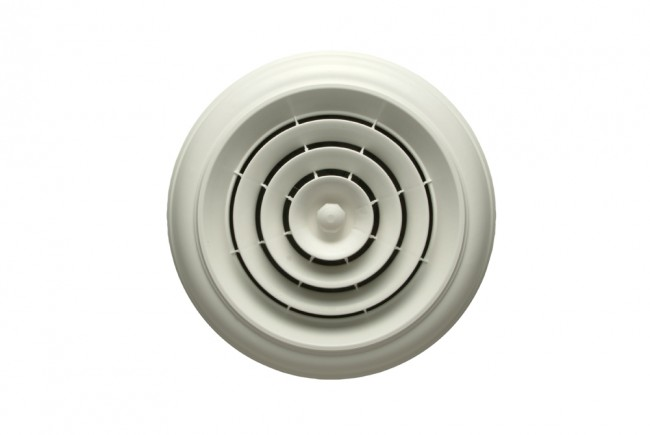 Boot /& Rotary Damper Havaco Quick Connect HT-CCGRB-R1D White Round Capital Crown Ceiling Diffuser 8-7-6 in
