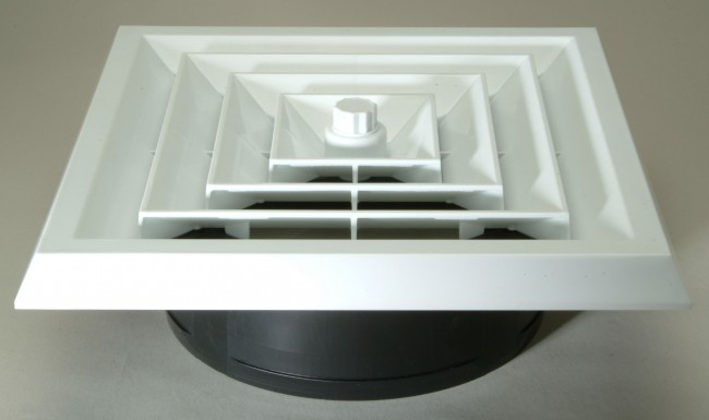 Ceiling Vent With Register Boot Square White Ceiling