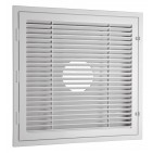 White Plastic 2'x2' Return Grille