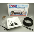 Start To Finish Kit with Start Collar, Register Boot and Square Ceiling Grille