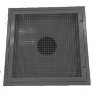 Black Plastic 2' X 2' Egg Crate Return Lay-In