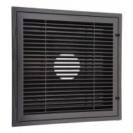 Black Plastic 2'x2' Louver Return Grille