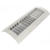"White Plastic 4""x12"" Spiral Duct Grille"
